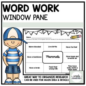 Graphic Organizer- Window Pane