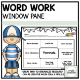 Graphic Organizer- Window Pane