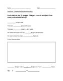 Graphic Organizer Worksheet for Multiplication Problem