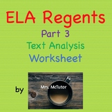 Graphic Organizer / Worksheet to Prep for Common Core ELA