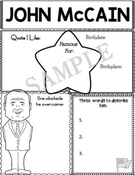 Graphic Organizer : World Leaders and Cultural Icons - John McCain
