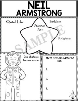 Graphic Organizer : World Leaders and Cultural Icons - Neil Armstrong