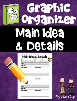 Graphic Organizer Main Idea and Details