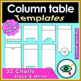 Graphic Organizer column table