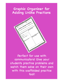 Graphic Organizer for Adding Unlike Fractions