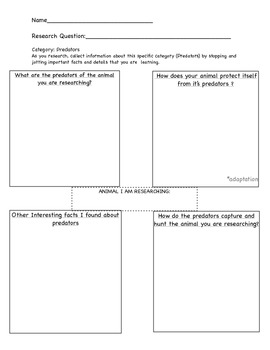 Graphic Organizer for Animal Research