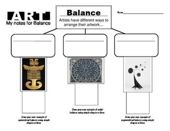Graphic Organizer for Balance