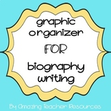 Graphic Organizer for Biography Writing