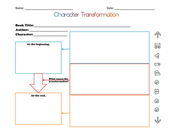 Graphic Organizer for Character Study/Character Transformation/Character Traits