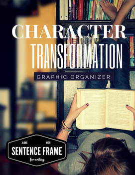 Graphic Organizer for Character Study/Character Transforma