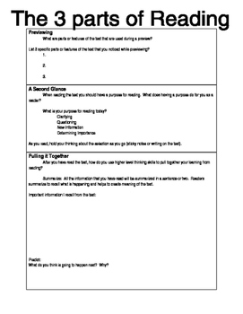 Graphic Organizer for Cross Content Reading