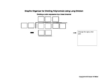 Dividing Polynomials Using Long Division Graphic Organizer