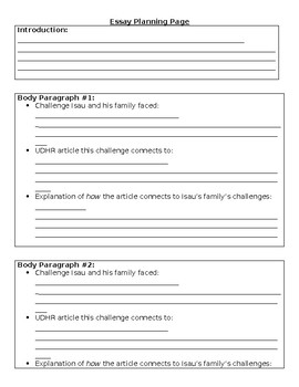 Graphic Organizer for Expeditionary Learning 5thGrade.Mod1.Unit1.EndAssessment