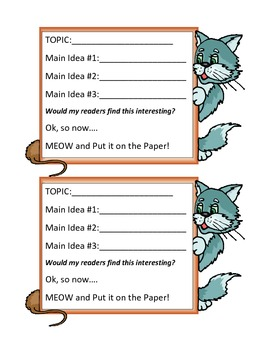 Graphic Organizer for Expository Writing
