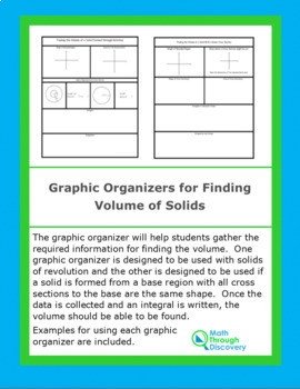 Graphic Organizer for Finding Volume