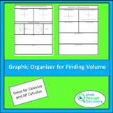 Calculus - Graphic Organizer for Finding Volume