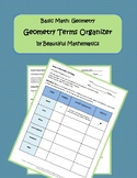 Graphic Organizer for Geometry Terms