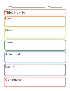 Graphic Organizers for How To Writing