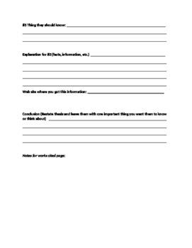 Graphic Organizer for Informational Article