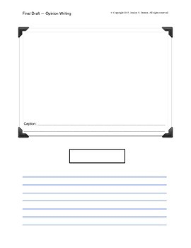 Final Draft Template for Opinion Writing
