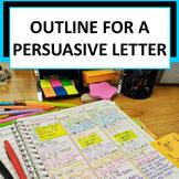 Graphic Organizer for Persuasive Letter