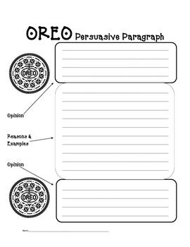 Graphic Organizer for Persuasive Paragraphs