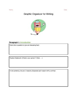 Graphic Organizer for Persuasive Writing