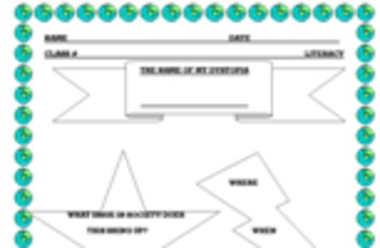 Graphic Organizer for Planning Dystopian Fiction Writing Project