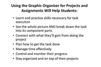 Graphic Organizer for Projects and Assignments