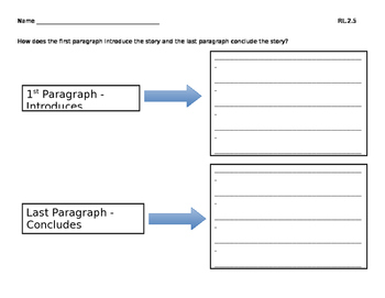 Graphic Organizer for RL.2.5