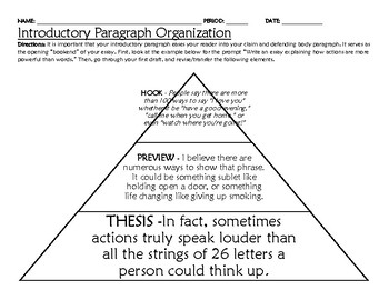 Graphic Organizer for STAAR Expository Writing