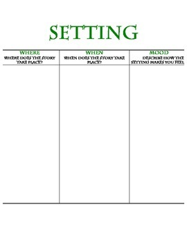 Graphic Organizer for Setting