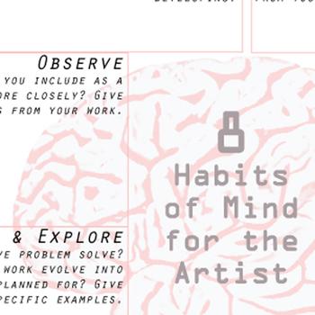 Graphic Organizer for Studio Thinking Artist Habits of Mind