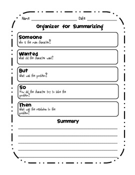 graphic organizer for summarizing by wendy smith tpt. Black Bedroom Furniture Sets. Home Design Ideas