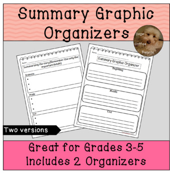 Free Summary Graphic Organizers