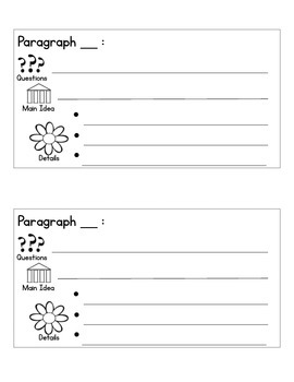 Graphic Organizer for Summary of Expository Text