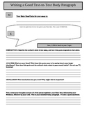 Graphic Organizer for Textual Evidence Body Paragraphs
