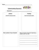Graphic Organizer for Understanding Characters