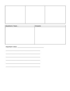 Graphic Organizer for Vocab and More