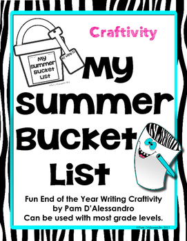 Summer Writing Craftivity - Summer Bucket List for K-3rd!