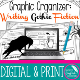 Graphic Organizer for Writing Gothic Fiction Literature Story Halloween Digital