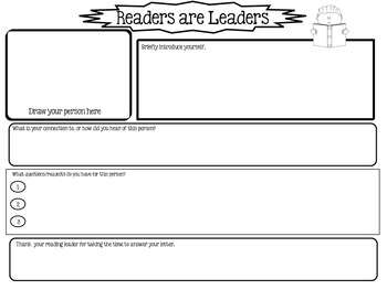 Graphic Organizer for Writing to a Famous Person