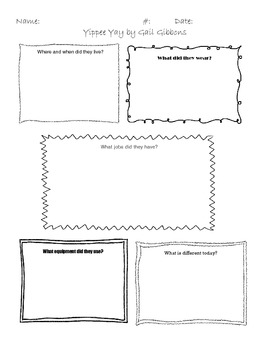 Graphic Organizer for Yippee Yay by Gail Gibbons