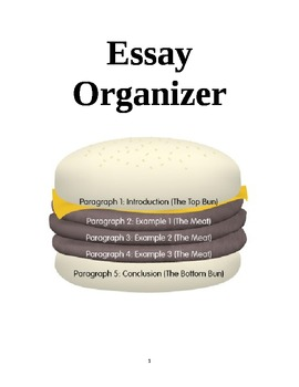 Graphic Organizer for a Basic Five-Paragraph Essay (Sentence-by-Sentence)