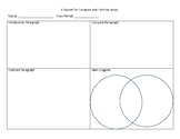 Graphic Organizer for compare and contrast essays