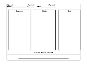 Graphic Organizer for theme