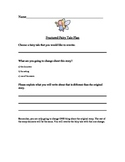 Graphic Organizer for writing Fractured Fairy Tales