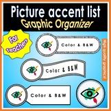 Graphic Organizer picture accents