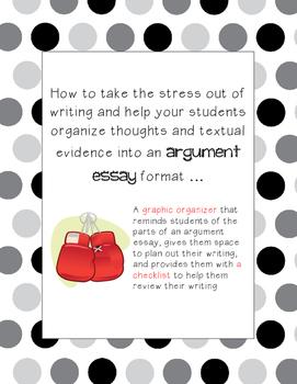 Graphic Organizer to Plan an Argument Essay