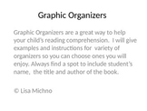 Graphic Organizers for reading comprehension and homework